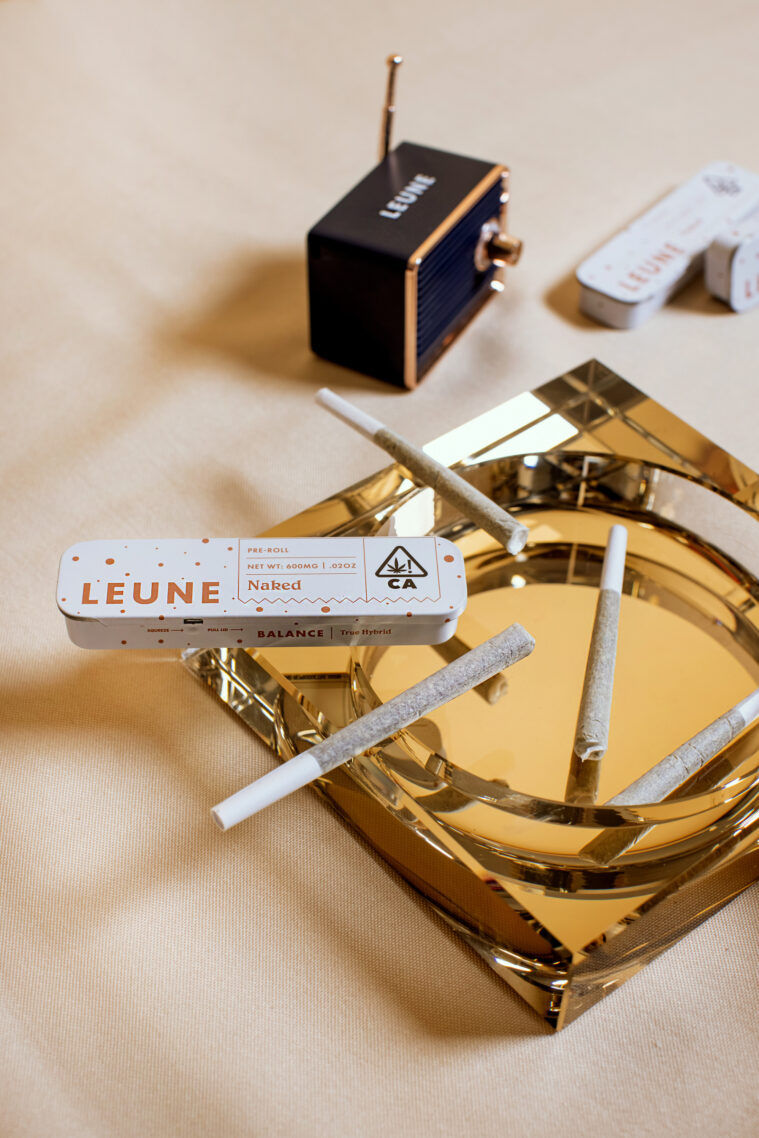 Leune prerolls and lifestyle products.