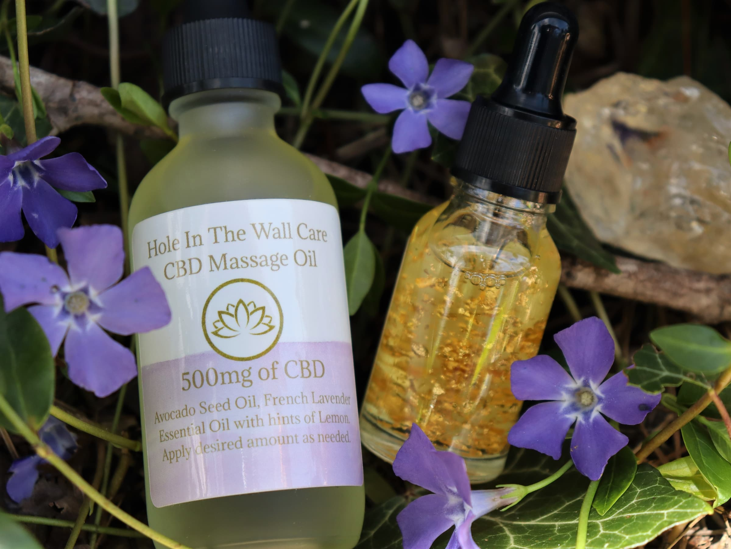 CBD Massage Oil & 24K CBD Gold Face Serum