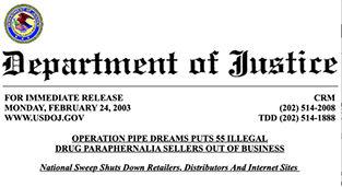 Dept. of Justice press release