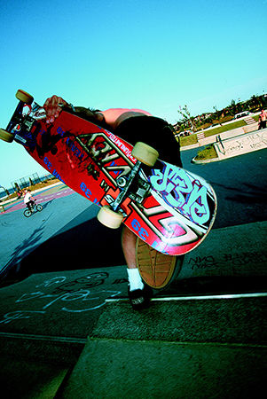 JBD skateboard in action.